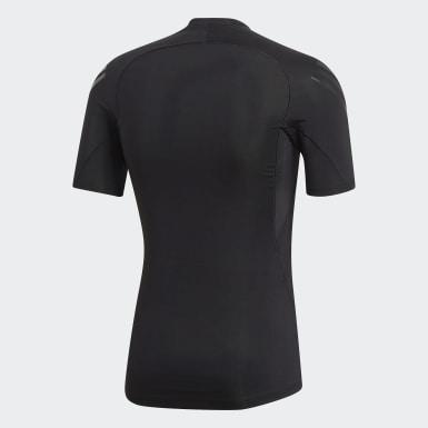 T-shirt Alphaskin Tech 3-Stripes Nero Uomo Sport Invernali