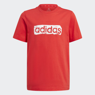 Boys Sport Inspired Red adidas Graphic Tee