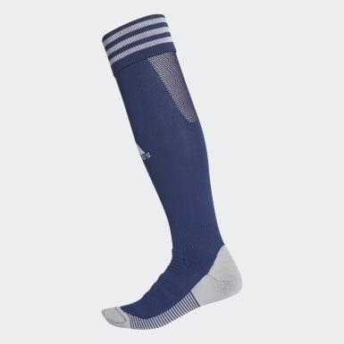 Fußball AdiSocks Kniestrümpfe Blau