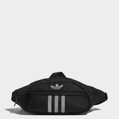 Originals Black Reflective National 3-Stripes Waist Pack