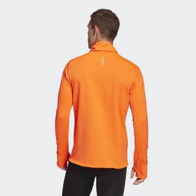 Heren Hardlopen oranje COLD.RDY Cover-Up