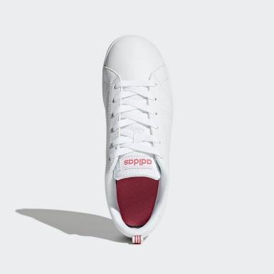 Children Sport Inspired White VS Advantage Clean Shoes