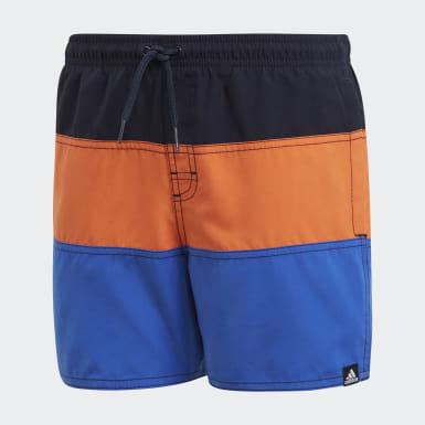 Short Swim Colorblock Blu Ragazzo Nuoto