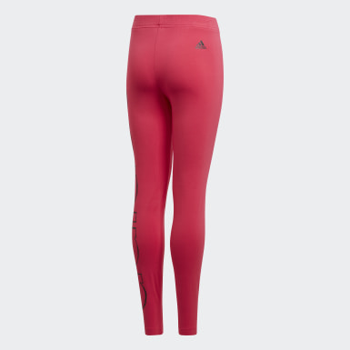 Girls Lifestyle Pink Logo Tights