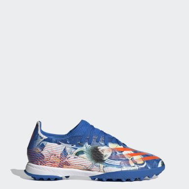ผู้ชาย ฟุตบอล สีน้ำเงิน รองเท้าฟุตบอล X Ghosted.3 Turf