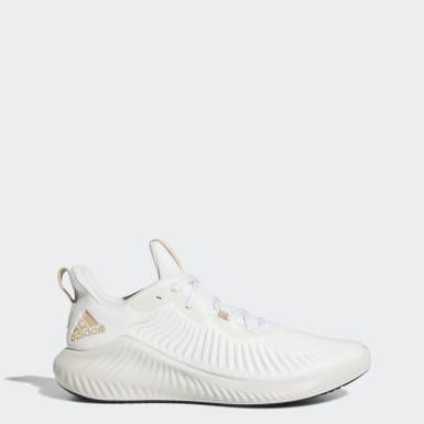 Men Running White Alphabounce+ Shoes
