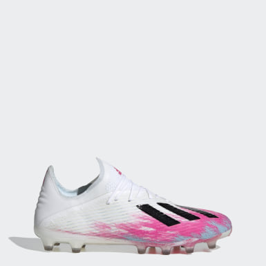 Football White X 19.1 Artificial Grass Boots