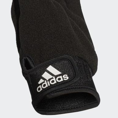 Fotboll Svart Handskar för utespelare