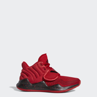 Youth Basketball Red Deep Threat Shoes