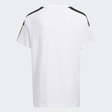 T-shirt Colorblock 3-Stripes blanc Enfants Entraînement