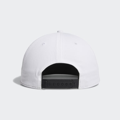 Men Golf White Printed Bill Hat