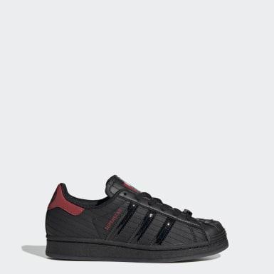 Kids Originals Black Superstar Star Wars Shoes