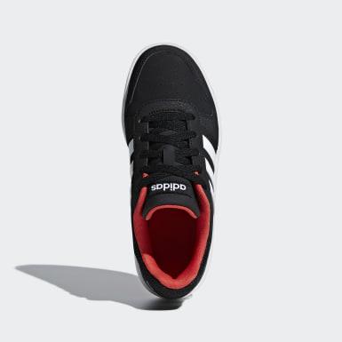 Jongens Basketbal Zwart Hoops 2.0 Schoenen