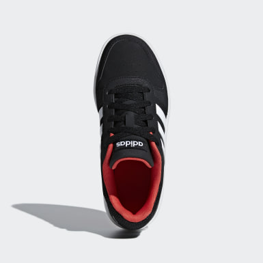 Children Sport Inspired Black Hoops 2.0 Shoes