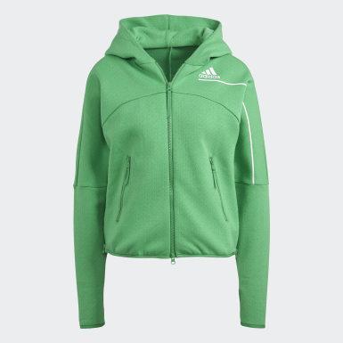 Casaco com Capuz adidas Z.N.E. Verde Mulher Athletics