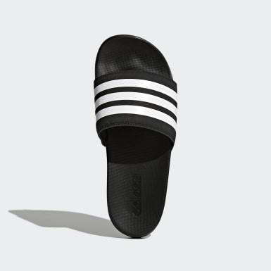 ผู้หญิง ไลฟ์สไตล์ สีดำ รองเท้าแตะ Adilette Cloudfoam Plus Stripes