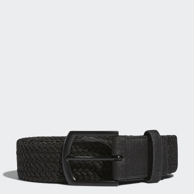 Men Golf Black Men's Braided Stretch Belt