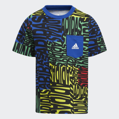 Youth Training Blue Allover Print Tee