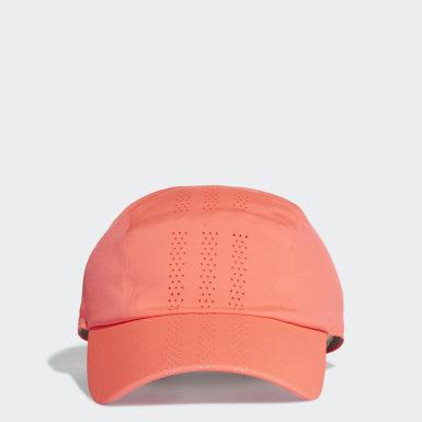 เทรนนิง สีชมพู หมวกแก๊ปเจาะรูระบายอากาศสำหรับใส่วิ่ง
