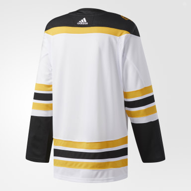 Men's Hockey White Bruins Away Authentic Pro Jersey