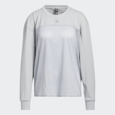 Women's adidas by Stella McCartney Grey adidas by Stella McCartney Mesh Top