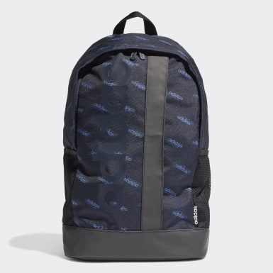 Training Blue Linear Logo Backpack