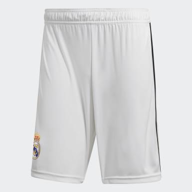 Shorts de Local Real Madrid 2018 Blanco Hombre Fútbol