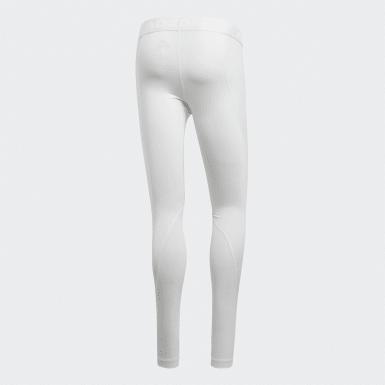 Calças Justas Compridas Alphaskin Branco Homem Ciclismo
