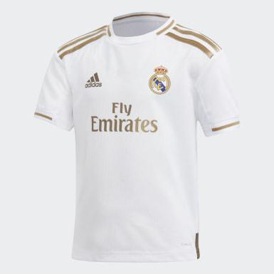 Kit Principal do Real Madrid para Criança Branco Criança Futebol
