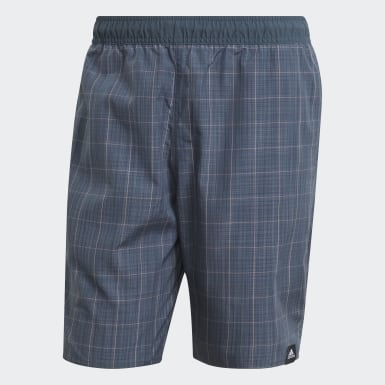 Herr Simning Grön Check Swim Shorts