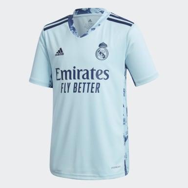 Camisola Principal de Guarda-redes 20/21 do Real Madrid Azul Criança Futebol