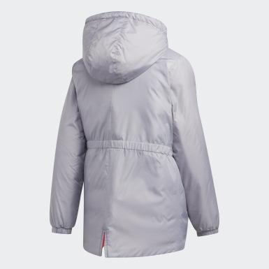 Mädchen Training Insulated Jacke Grau