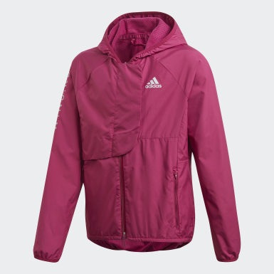 Girls Training Burgundy WIND.RDY Windbreaker