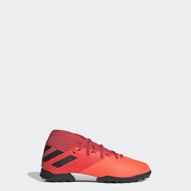 Kids Football Orange Nemeziz 19.3 Turf Boots