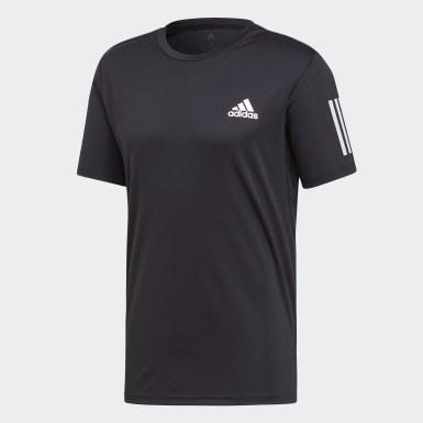 Männer Padel-Tennis 3-Streifen Club T-Shirt Schwarz