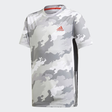 Polera Estampada Bold AEROREADY Blanco Niño Training