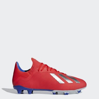 Futbal červená Kopačky X 18.3 Firm Ground