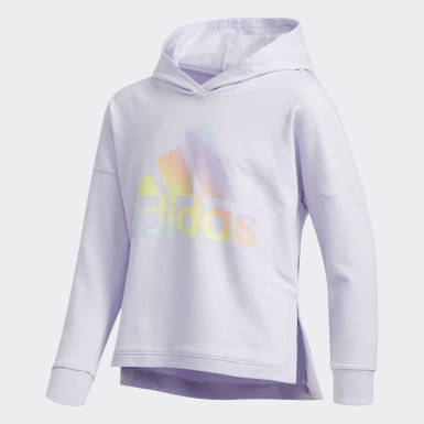 Youth Training Purple Badge of Sport Hoodie