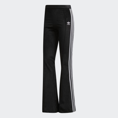 Pants Flared Track Negro Mujer Originals