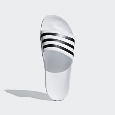 Zimní Sporty bílá Pantofle Adilette Aqua