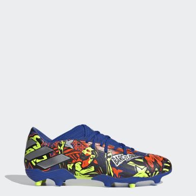 Zapatos de fútbol NEMEZIZ MESSI 19.3 Terreno Firme Azul Hombre Fútbol