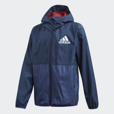 Boys Training Blue Must Haves Windbreaker