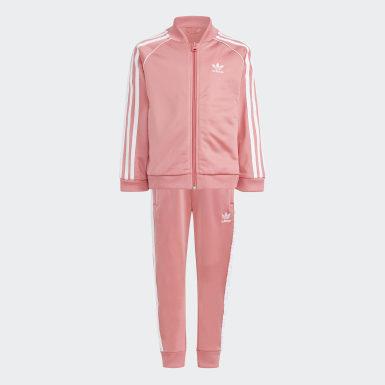 Kids Originals Pink Adicolor SST Track Suit