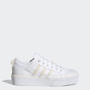 Sapatos de Plataforma Nizza Branco Mulher Originals