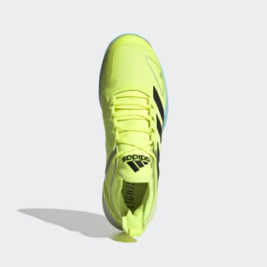 Men's Tennis Yellow Adizero Ubersonic 4 Tokyo Tennis Shoes