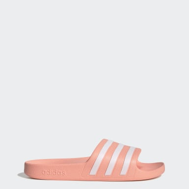 Women Swimming Pink Adilette Aqua Slides