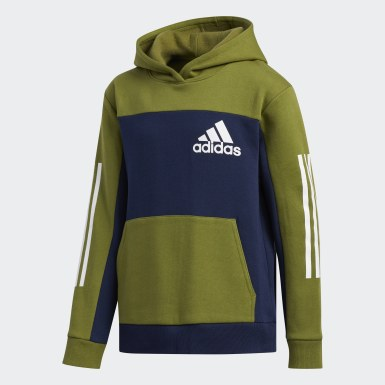 Youth Training Green Pullover Hoodie