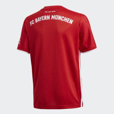 красный Домашняя игровая футболка Бавария Мюнхен