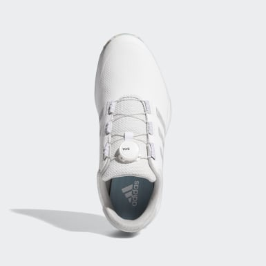 Men Golf White S2G BOA Spikeless Golf Shoes