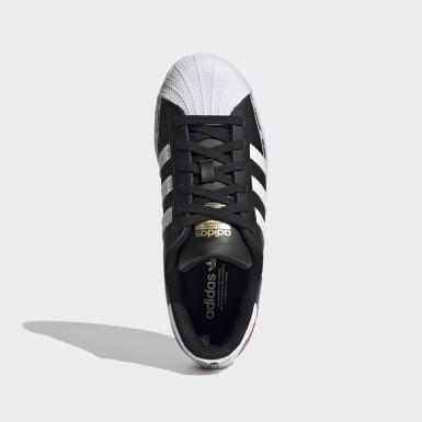 Youth Originals Black Superstar Shoes